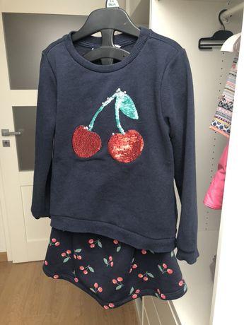 Komplet dresowy bluza i spodnica 110/116 H&M