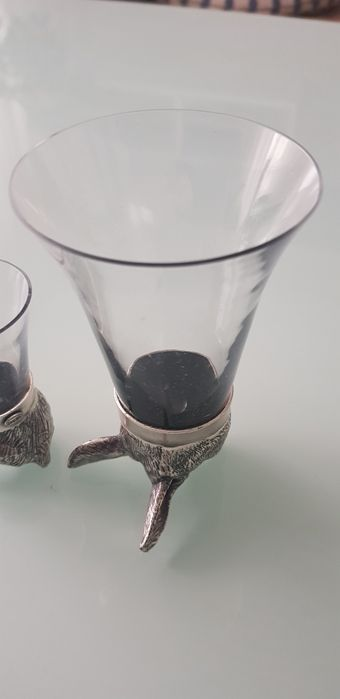 Szklanka kieliszek kielich dla myśliwego srebro Łódź - image 1