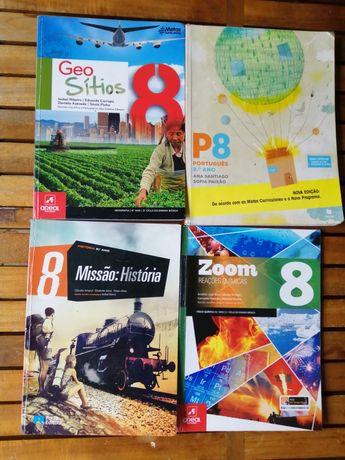 Livros escolares iteen 8 Geo sítios 8 P8 Missão História PI8 zoom 8