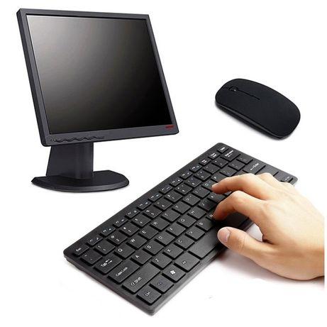 Mini bezprzewodowa klawiatura mysz optyczna Zestaw