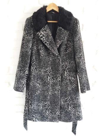 Демисезонное пальто m&s с шерстью в составе 14-12( xl-l )