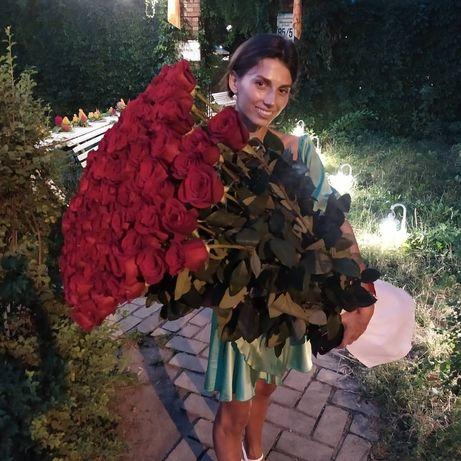 Эквадорская Красная Роза 100см 35 грн