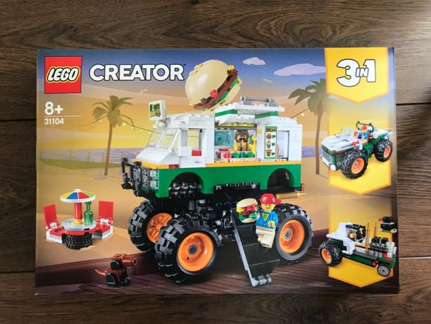 LEGO 3w1 Creator 31104 Monster truck z burgerami - NOWE