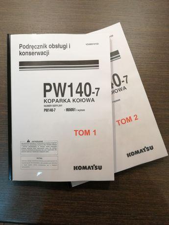 Instrukcja DTR Koparki Kołowej PW 140-7 Komatsu