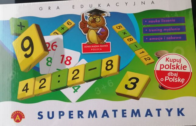 Nowa gra edukacyjna Supermatematyk (Alexander)