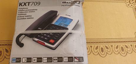 Telefon przewodowy MAXCOM KXT709 świetny dla starszej osoby