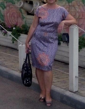 Коктейльное платье из коттон-атласа