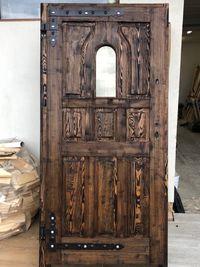 Drzwi zewnętrzne postarzane szczotkowane OCIEPLANE R2
