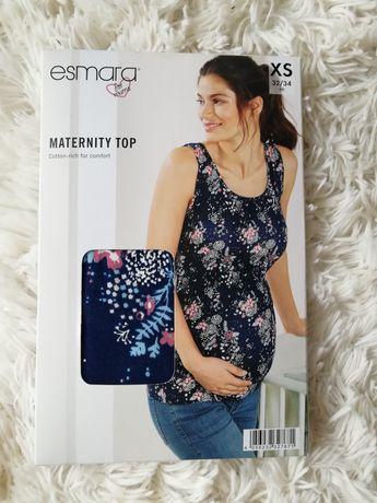 NOWY top ciążowy ESMARA, rozmiar XS/S