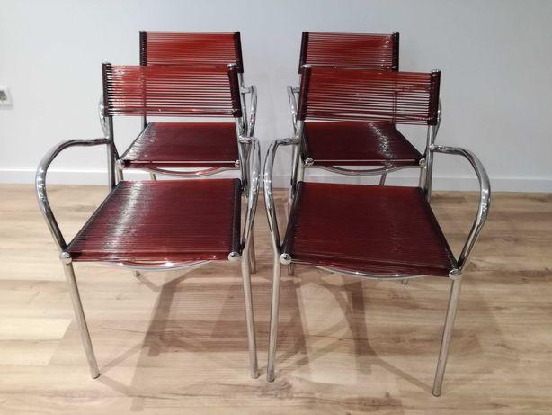 4 cadeiras cromadas tipo esparguete