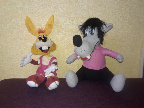 Набор игрушек-волк и заяц