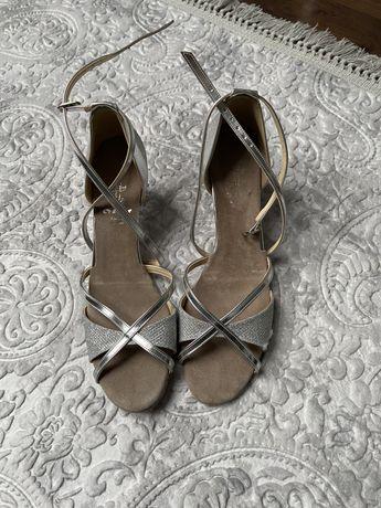 Sandały buty taneczne ślub wesele niski obcas