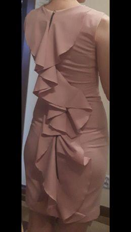 Markowa sukienka emo pudrowy róż 34