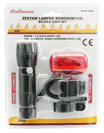 LAMPKI Rowerowe LED Lampka Na Rower PRZÓD + TYŁ ZESTAW Warszawa