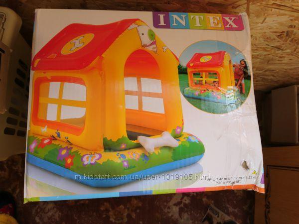 Детский надувной домик-бассейн