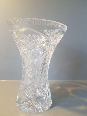 wazon kryształ 20cm prl gruby kryształ