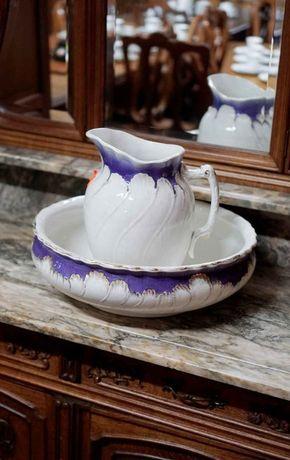 Porcelanowy zestaw toaletowy retro antyk | Antyki Stylowy Węgrów