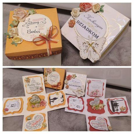 Dzień Babci i Dziadka- exploding box, kartka, prezent, upominek