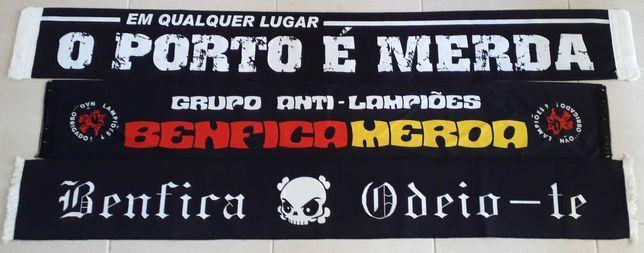 Cachecóis claques - Benfica Porto Sporting