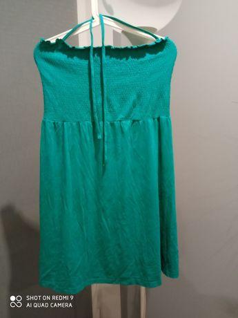 Zielona sukienka bez ramiączek