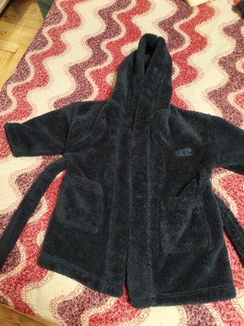Детский плюшевый халат на мальчика 6-12 мес