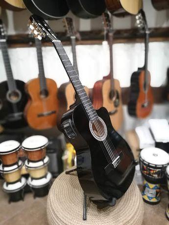 gitara elektro klasyczna z tunerem Ever Play IGA EV125 CEQ BK klasyk