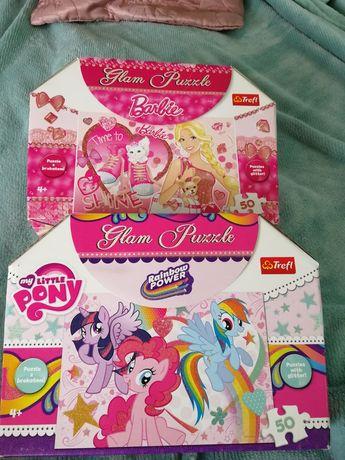 Puzzle Barbie, pony kucyki 4+,