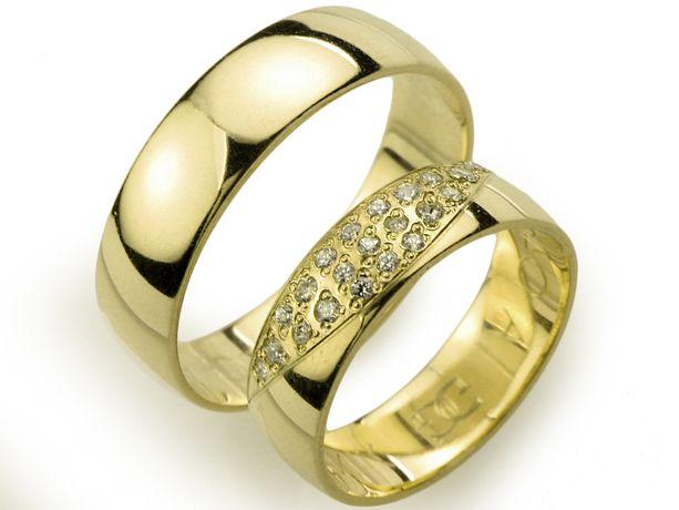 Goldrun Złote Obrączki Ślubne A046 Para Bezszwowe