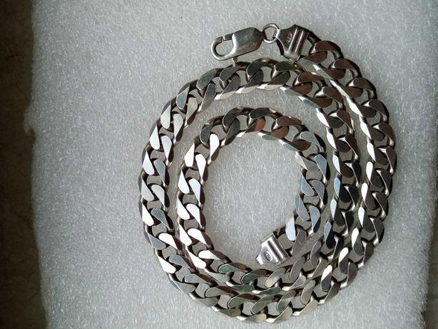Łańcuch srebro pancerka 925, 47 cm, 55 gram