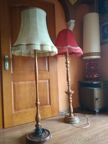 Stare lampy z abażurem