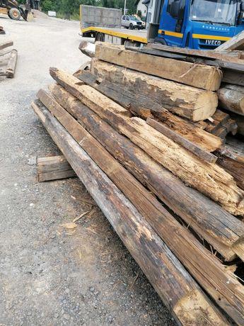 Kantówki belki drzewo z rozbiórki domu drewnianego stodoła