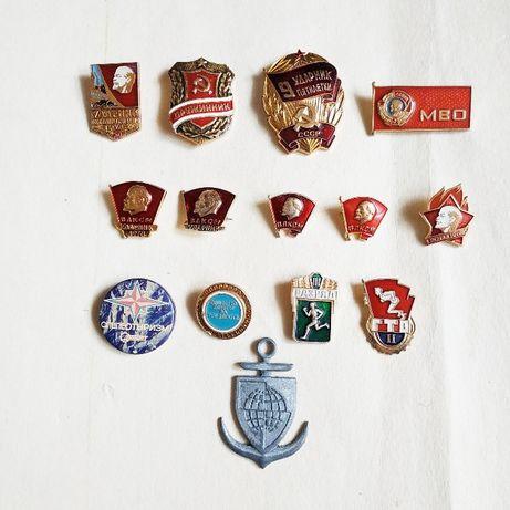 Коллекция значков советских времён