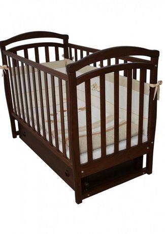 Детская кроватка VERES Соня орех (маятник с ящиком)