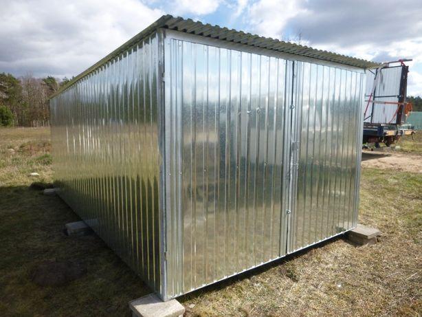 Garaż blaszany 3x5 Blaszak Schowek na budowę Garaże blaszane PRODUCENT