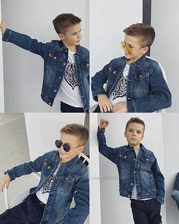 Куртка, ветровка джинсовая на мальчика на 5-6 лет