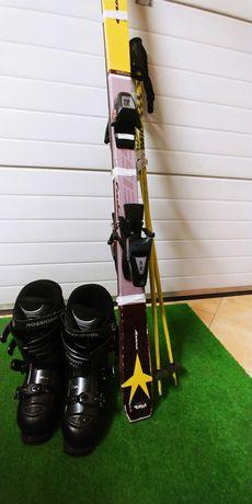 Narty buty narciarski kijki Okazja!!!