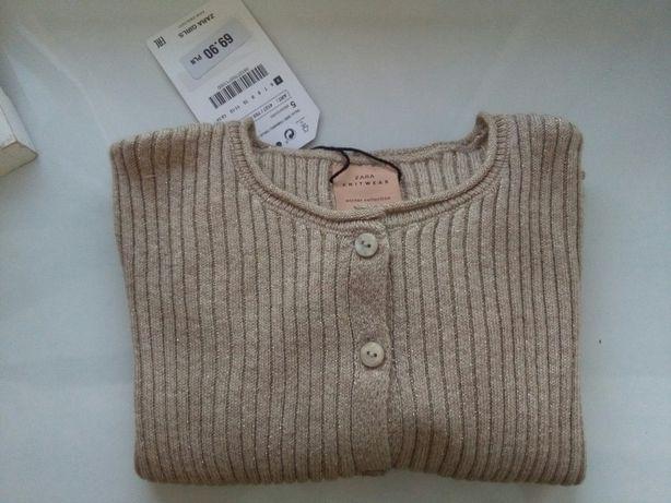 Sweter kardigan 110 zara nowy
