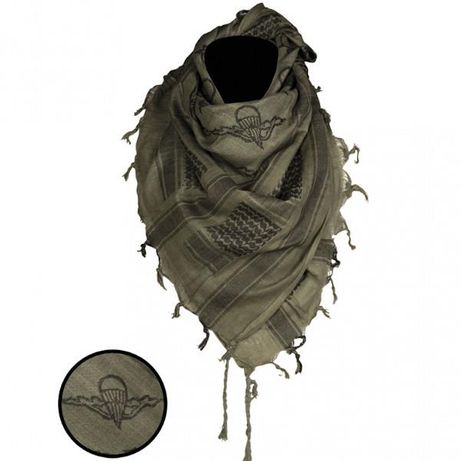 MILIARIALODZ.PL Arafatka Paratr. Oliv/Black 110x110cm MIL-TEC