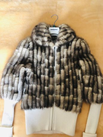 Эффектная норковая шубка-куртка