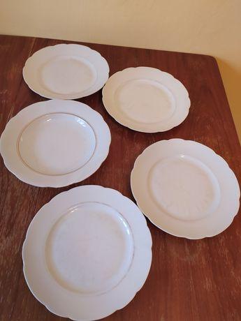 Porcelana Ćmielów talerze 5 sztuk