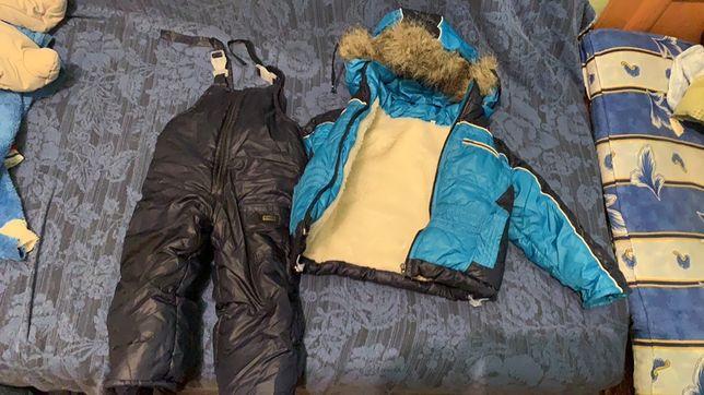 Зимний комбинезон и куртка до 2-х лет