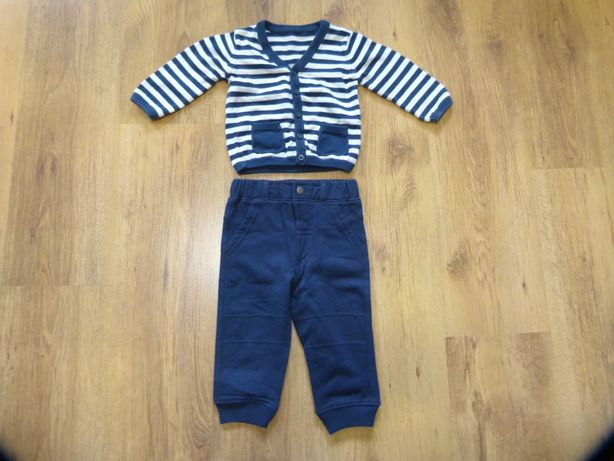 rozm. 74/80 komplet spodnie i sweter chłopięce