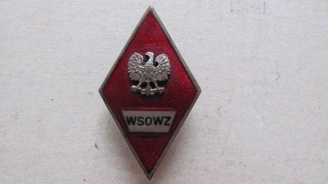 Odznaka Wyższej Szk. Oficerskiej wz.1972,  rzadka, stan