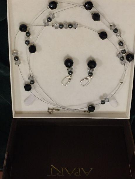 Naszyjnik i kolczyki Apart srebro, biżuteria