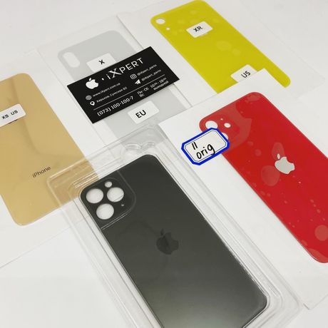 Заднее стекло + ободок камеры iPhone 8/8 Plus/X/Xs/Xs Max/Xr/11/11 Pro