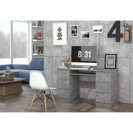 Nowoczesne biurko MODERN NEW w kolorystyce beton
