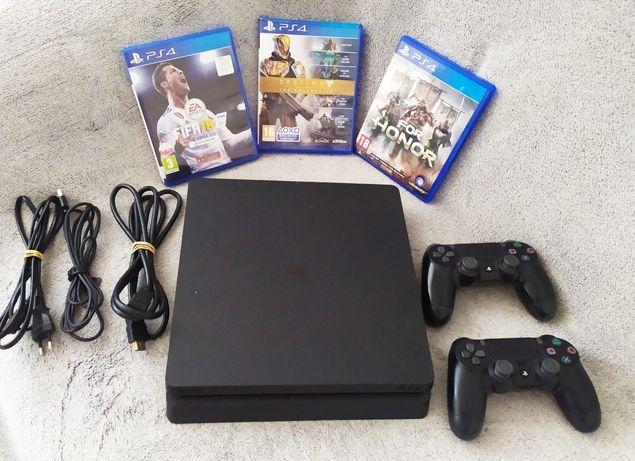Konsola PS4 PlayStation 4 slim dużo gier 2 pady