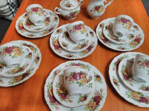 Przepiękhy komplet kawowy porcelana czeska MZ