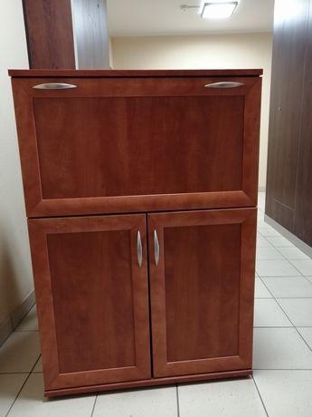 Barek z szafką z półkami 80,2 cm x 39,2 cm x 116 cm kolor calvados