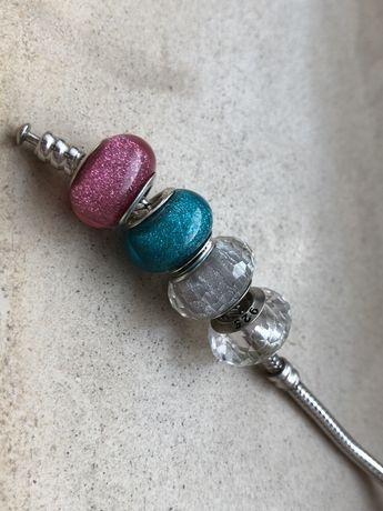 Pandora charms koraliki bransoletka